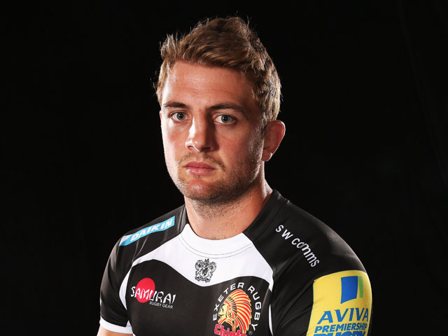 Dean Mumm the Exeter Chiefs captain poses for a photograph while attending the Aviva Premiership Season Launch 2013-2014 at Twickenham Stadium on August 29, 2013