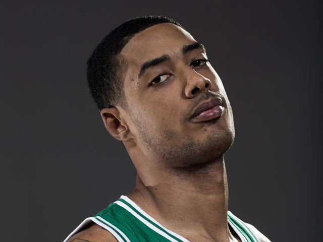 Fab Melo of the Boston Celtics poses for a portrait during the 2012 NBA Rookie Photo Shoot at the MSG Training Center on August 21, 2012