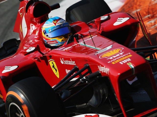 Ferrari driver Fernando Alonso during the final practice session for the Italian Grand Prix at Monza on September 7, 2013