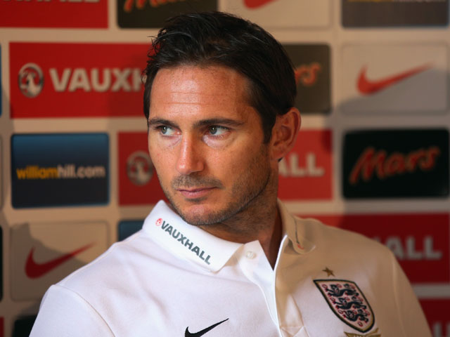 Frank Lampard of England talks to the media during an England Press Conference at The Grove Hotel on September 8, 2013