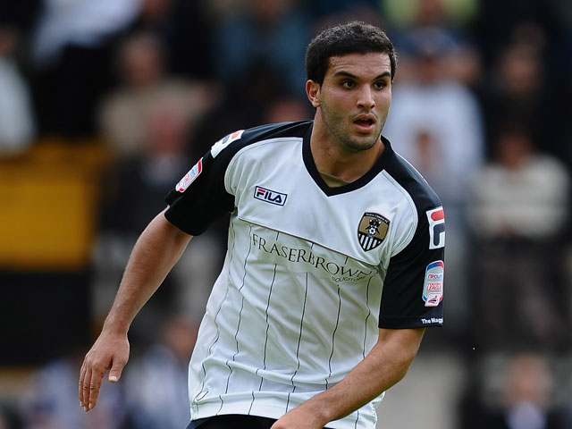 Hamza Bencherif of Notts County in action during the Pre Season Friendly between Notts County and Wolverhampton Wanderers at Meadow Lane on July 23, 2011