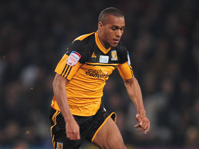 Jay Simpson of Hull City in action during the npower Championship match between Crystal Palace and Hull City at Selhurst Park on March 5, 2013