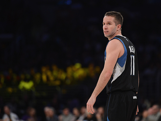 Minnesota Timberwolves' JJ Barea in action against Los Angeles Lakers on February 28, 2013