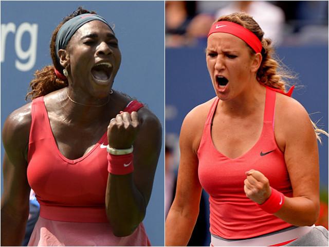 Serena Williams and Victoria Azarenka at the US Open