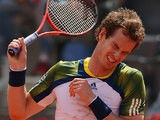 Andy Murray reacts against Marcel Granollers during day four of the Internazionali BNL d'Italia 2013 on May 15, 2013