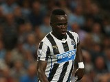 Cheik Tiote of Newcastle United in action during the Barclays Premier League match between Manchester City and Newcastle United at the Etihad Stadium on August 19, 2013