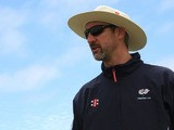 Coach Jason Gillespie of Yorkshire Carmegie attends a training session during the Champions League Twenty20, at Claremont Cricket Club on October 15, 2012