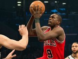 Chicago Bulls' Luol Deng in action during the game against Brooklyn Nets on April 30, 2013