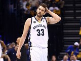 Memphis Grizzlies' Marc Gasol in action against San Antonio Spurs on May 27, 2013