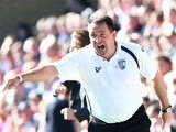 Gillingham's Martin Allen on the touchline against AFC Wimbledon on April 20, 2013