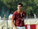 Roma's Nicolas Burdisso in action against Bursaspor Kulubu during a friendly match on July 21, 2013