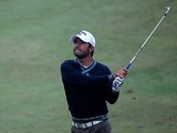 Pablo Larrazabal in action on day two of the KLM Open on September 13, 2013