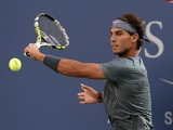 Rafael Nadal in action against Novak Djokovic during the US Open men's singles final on September 9, 2013