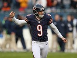 Chicago Bears' Robbie Gould in action against Seattle Seahawks on December 2, 2012