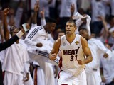 Miami Heat's Shane Battier in action during the game against San Antonio Spurs on June 20, 2013