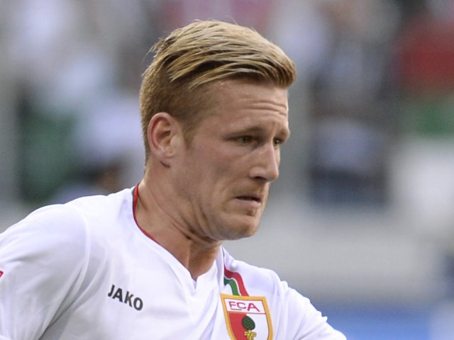 Andre Hahn in action for Augsburg against Feurth in May 2013.