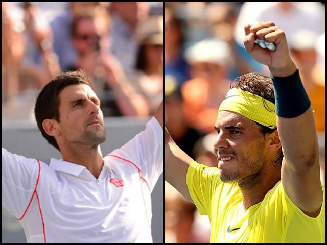 Novak Djokovic and Rafael Nadal at the US Open