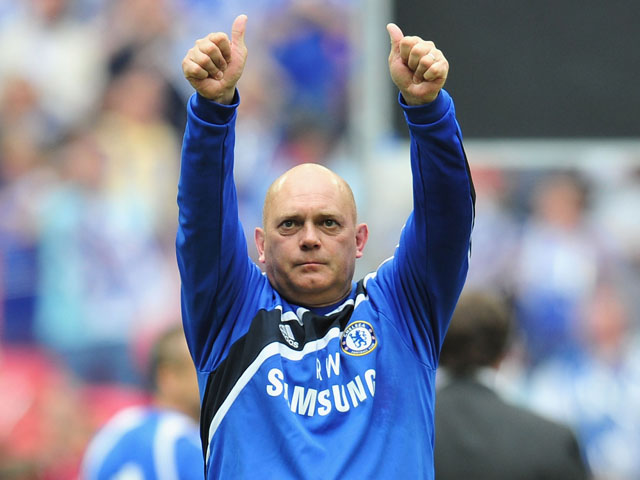 Ray Wilkins of Chelsea salutes the fans at the end of the FA Cup sponsored by E.ON Final match between Chelsea and Portsmouth at Wembley Stadium on May 15, 2010