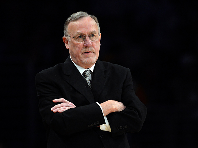 Minnesota Timberwolves coach Rick Adelman during the game against Los Angeles Lakers on February 28, 2013
