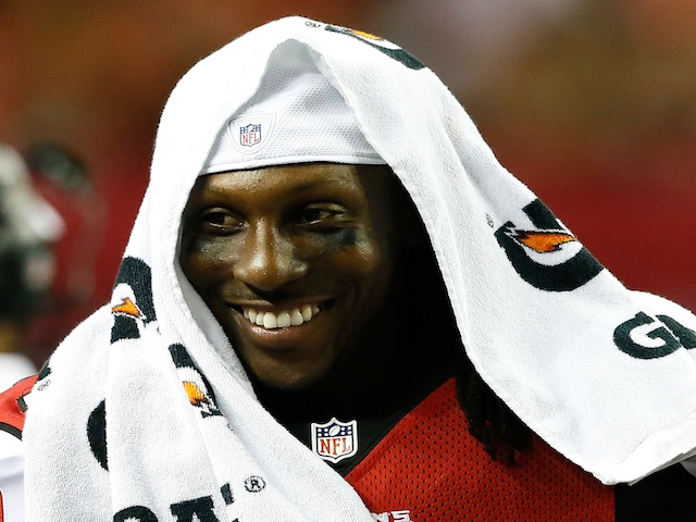 Roddy White on the side against the Bengals on August 8, 2013