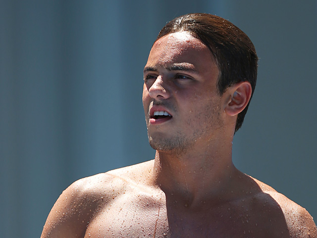 Tom Daley in action during the 15th FINA World Championships on July 28, 2013