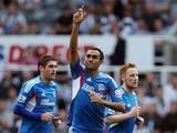 Hull's Ahmed Elmohamady celebrates scoring against Newcastle on September 21, 2013