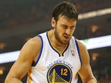 Golden State Warriors' Andrew Bogut in action during the game against Denver Nuggets on April 28, 2013