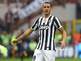 Juventus' Leonardo Bonucci in action against Inter during their Serie A match on September 14, 2013