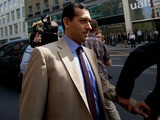 Godolphin trainer Mahmood al-Zarooni arrives for a disciplinary hearing at the British Horseracing Authority in London on April 25, 2013