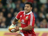Manu Tuilagi of the Lions breaks with the ball during the International Tour Match between the Melbourne Rebels and the British & Irish Lions at AAMI Park on June 25, 2013