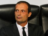 AC Milan manager Massimiliano Allegri prior to kick-off against Celtic during their Champions League group match on September 18, 2013