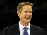 Broadcaster Steve Kerr on the sidelines at an NBA game on April 4, 2011