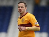 Motherwell's Tom Hateley in action against Inverness during their Scottish Premier League match on May 4, 2013