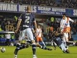 Blackpool's Tom Ince scores against Millwall on September 17, 2013