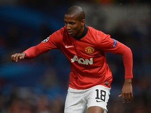 Manchester United's Ashley Young in action against Bayer Leverkusen during their Champions League group match on September 17, 2013
