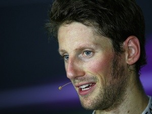 Romain Grosjean in the pit lane on September 21, 2013