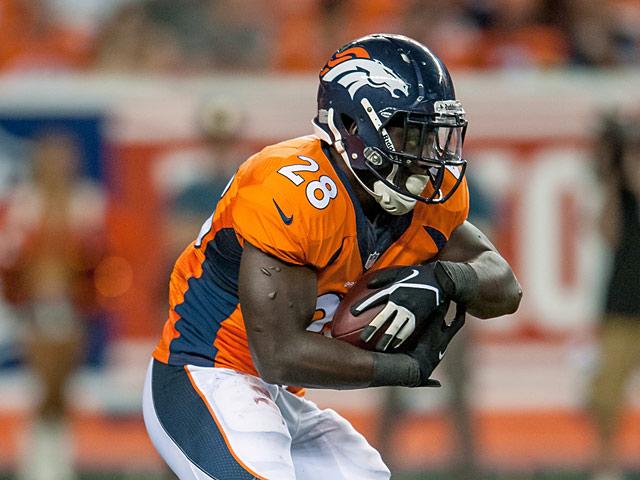 Denver Broncos' Montee Ball in action against Baltimore Ravens on September 5, 2013