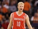 Houston Rockets' Chase Budinger in action against Phoenix Suns on February 9, 2012