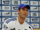 Chris Tremlett of England talks to the media during a press conference at The Kia Oval on August 19, 2013