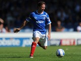 David Connolly of Portsmouth in action during the Sky Bet League Two match between Portsmouth and Chesterfield at Fratton Park on August 31, 2013
