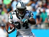 DeAngelo Williams #34 of the Carolina Panthers during their game at Bank of America Stadium on September 8, 2013