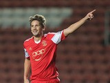Southampton's Gaston Ramirez celebrates after scoring the opening goal against Bristol City during their League Cup match on September 24, 2013