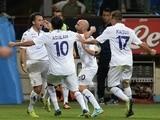 Fiorentina striker Giuseppe Rossi celebrates opening the scoring against Inter Milan on September 26, 2013