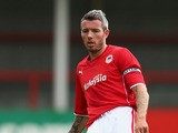 Kevin McNaughton of Cardiff City during the Pre Season match between Cheltenham Town and Cardiff City at the Abbey Business Stadium on July 27, 2013