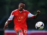 Nathaniel Clyne of Southampton kicks the ball during a friendly match between Southampton FC and UE Llagostera a