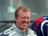 Steve McClaren before an England training session in November 2007.
