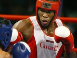 Canada's Adonis Stevenson in action against Samoa's Warren Fuavailili on March 23, 2006