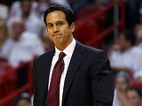 Miami Heat head coach Erik Spoelstra during the game against San Antonio Spurs on June 18, 2013