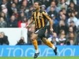 Geovanni celebrates scoring the winning goal against Tottenham Hotspur in October 2008.