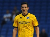 Lewis Dunk of Brighton during the pre season friendly match between Brighton & Hove Albion and Norwich City at The Amex Stadium on July 30, 2013